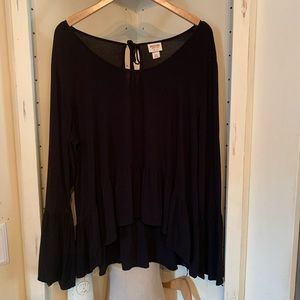 Mossimo Supply Co. Black Blouse, size XXL Top